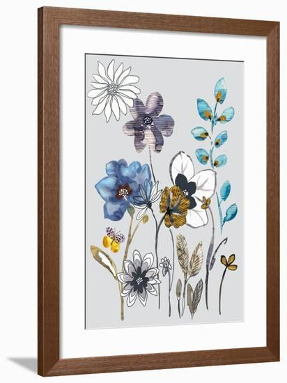 Field Flowers I-Sandra Jacobs-Framed Art Print