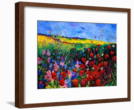 field flowers (poppies, chicorees daisies and many more)-Pol Ledent-Framed Art Print