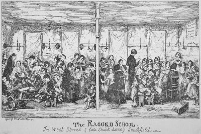 Field Lane Ragged School, Smithfield, City of London, 1850-George Cruikshank-Giclee Print