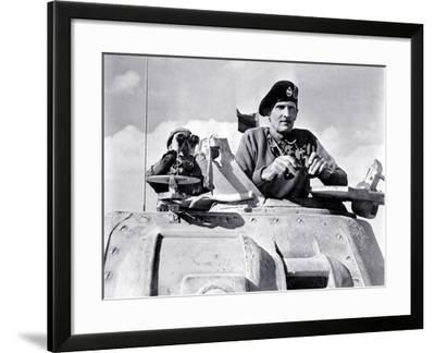Field Marshal Bernard L. Montgomery During the Second Battle of El Alamein, Libya, November 1942--Framed Photographic Print
