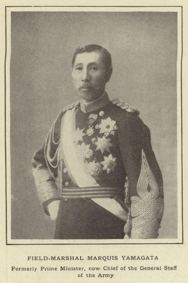 Field-Marshal Marquis Yamagata, Formerly Prime Minister, Now Chief of the General Staff of the Army--Photographic Print