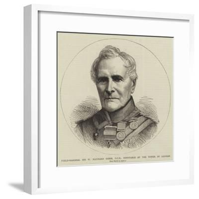 Field-Marshal Sir W Maynard Gomm, Gcb, Constable of the Tower of London--Framed Giclee Print