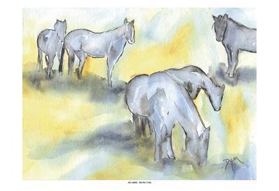 Field of Horses-Beverly Dyer-Art Print