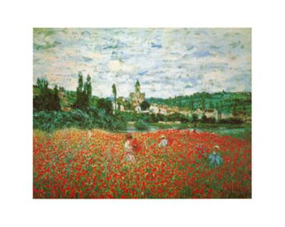 Field of Poppies at Giverny-Claude Monet-Art Print