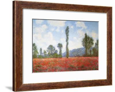 Field of Poppies-Claude Monet-Framed Art Print