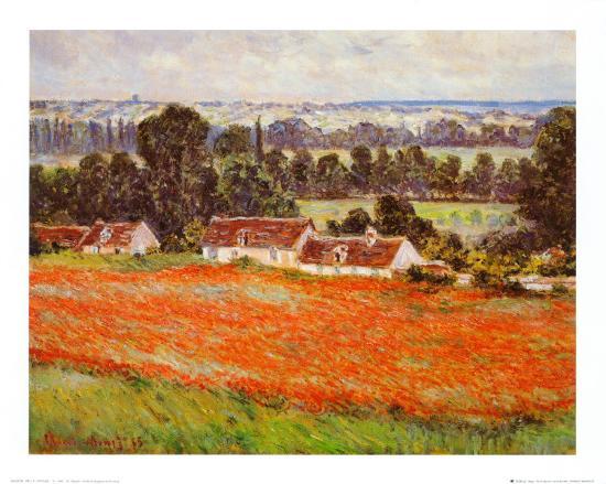 Field of Poppies-Claude Monet-Art Print