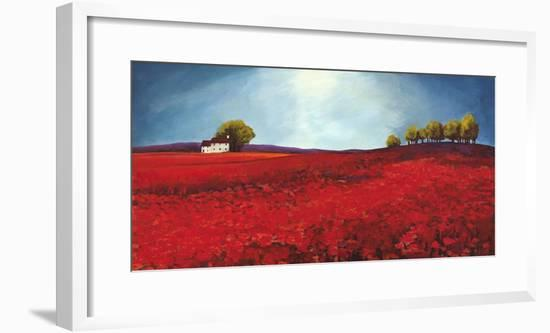 Field of poppies-Philip Bloom-Framed Art Print
