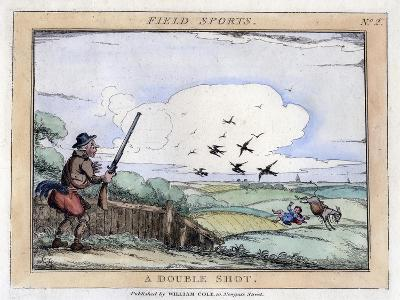 Field Sports: a Double Shot, Late 18th-Early 19th Century--Giclee Print