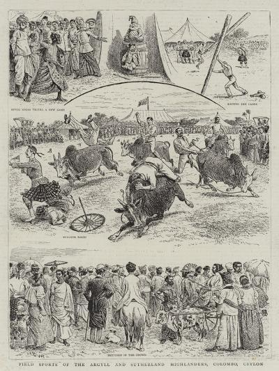 Field Sports of the Argyll and Sutherland Highlanders, Colombo, Ceylon--Giclee Print