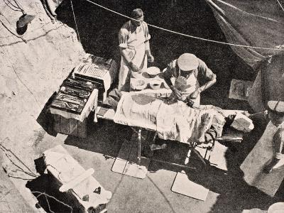 Field Surgery on Gallipoli Peninsula, Turkey, 1915, from 'The War Illustrated Album Deluxe',…-English School-Giclee Print