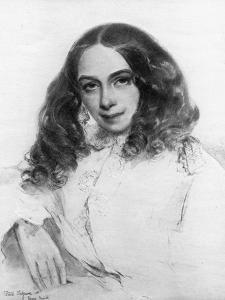 Elizabeth Barrett Browning, British Poet, 1859 by Field Talfourd