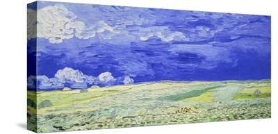Field under a Stormy Sky-Vincent van Gogh-Brushstroked Canvas