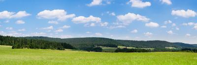Field with a Mountain Range in the Background, Schramberg, Rottweil, Black Forest, Baden-Wurttem...--Photographic Print