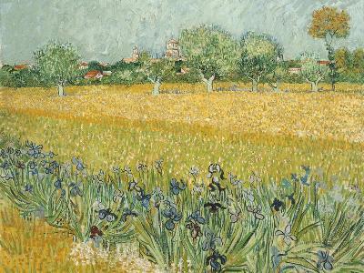 Field with Irises Near Arles-Vincent van Gogh-Giclee Print