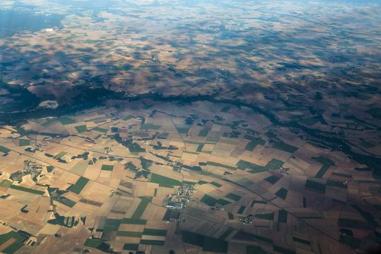 Fields and Villages of Rural France's Ile-De-France Region-Kent Kobersteen-Photographic Print