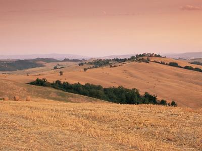 Fields at Sunset, Crete Senesi, Siena Province, Tuscany, Italy, Europe-Sergio Pitamitz-Photographic Print