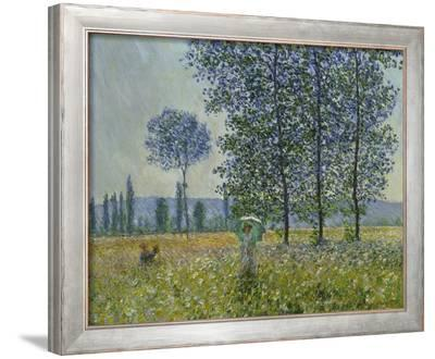 Fields in Spring, 1887-Claude Monet-Framed Giclee Print