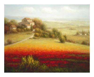 Fields of Red and Gold I-Eugene Laporte-Art Print