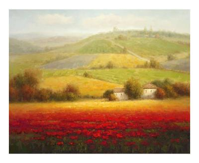 Fields of Red and Gold II-Eugene Laporte-Art Print