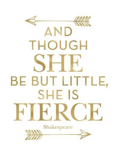Fierce Shakespeare Arrows Golden White-Amy Brinkman-Art Print