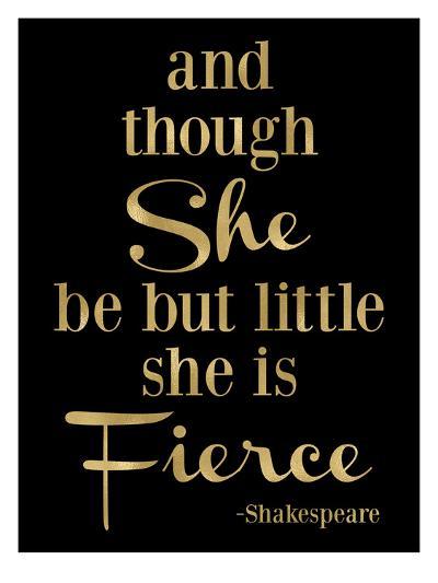 Fierce Shakespeare Golden Black-Amy Brinkman-Art Print