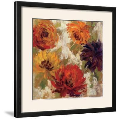 Fiery Dahlias II--Framed Photographic Print
