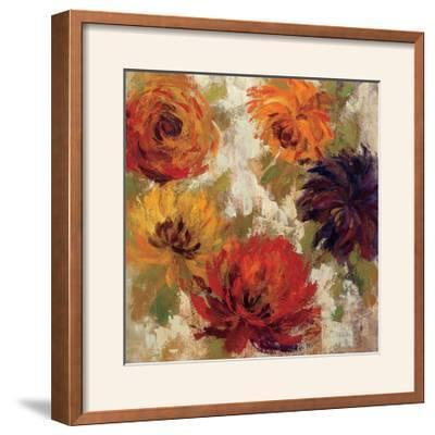 Fiery Dahlias II--Framed Photographic Print