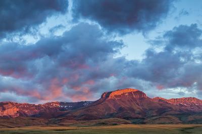 Fiery Sunrise Light, Ear Mountain, Rocky Mountain Front, Choteau, Montana, USA-Chuck Haney-Photographic Print