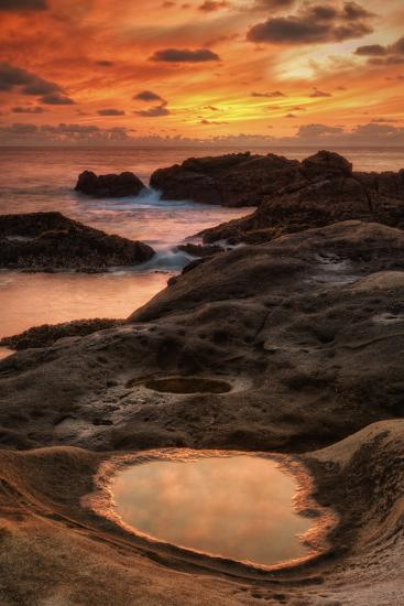 Fiery Sunset at Point Lobos, California-Vincent James-Photographic Print