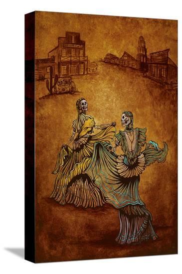 Fiesta en Old Town-David Lozeau-Stretched Canvas Print