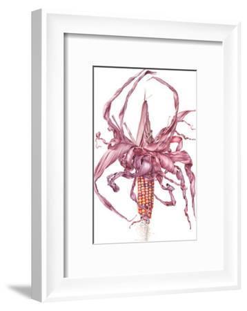 Fiesta Ornamental Maize-Elizabeth Hellman-Framed Art Print