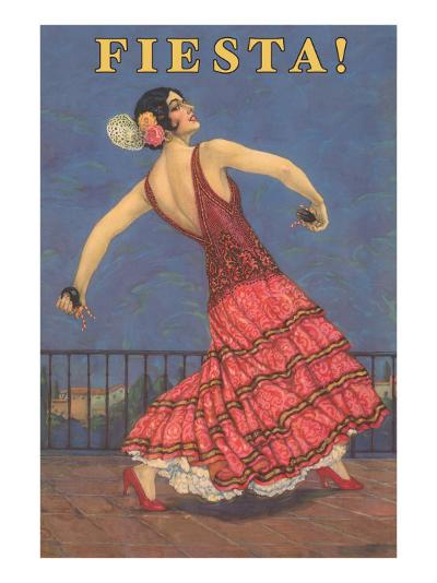 Fiesta! Vintage Flamenco Dancer--Art Print