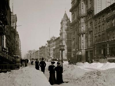 Fifth Avenue after a Snow Storm, New York--Photo