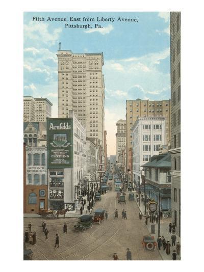 Fifth Avenue, Pittsburgh, Pennsylvania--Art Print