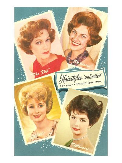 Fifties Hairstyles--Art Print