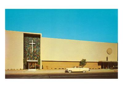 Fifties Mega-Church--Art Print