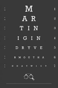 Eye Chart Martini by Fig & Melon Press