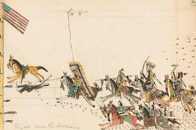 Fight Near Ft. Wallace, 1874-75--Giclee Print