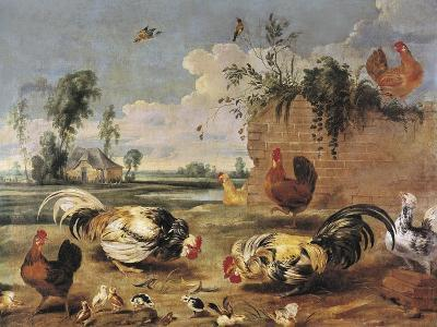 Fight of Cocks-Frans Snyders-Art Print