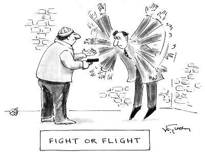 Fight of Flight - Cartoon-Mike Twohy-Premium Giclee Print