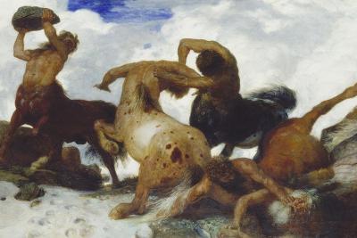 Fight of the Centaurs, 1873-Arnold B?cklin-Giclee Print