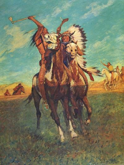 Fight to the Finish-Charles Shreyvogel-Art Print