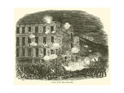 Fight with the Military, July 1863--Giclee Print