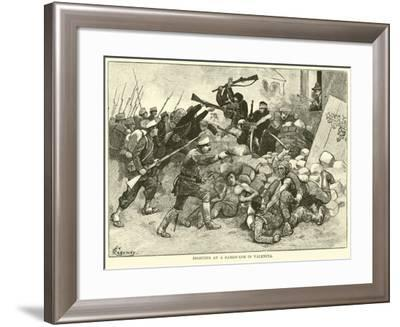 Fighting at a Barricade in Valencia--Framed Giclee Print