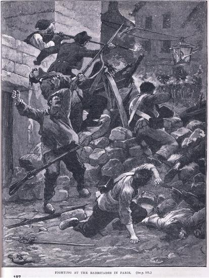 Fighting at the Barricade Ad 1847-Gordon Frederick Browne-Giclee Print