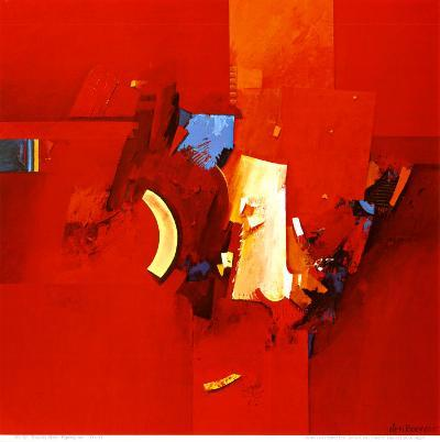 Fighting Blue-Theo Den Boon-Art Print