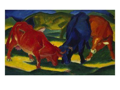 Fighting Oxen, 1911-Franz Marc-Giclee Print