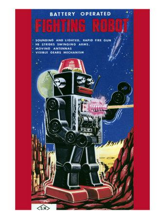 Fighting Robot--Art Print