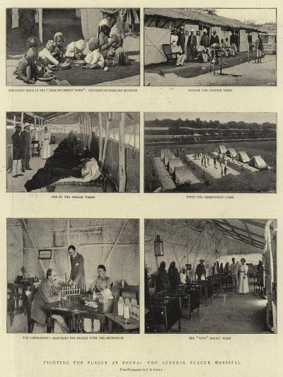 Fighting the Plague at Poona, the General Plague Hospital--Giclee Print