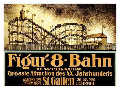 Figur 8 Bahn--Giclee Print